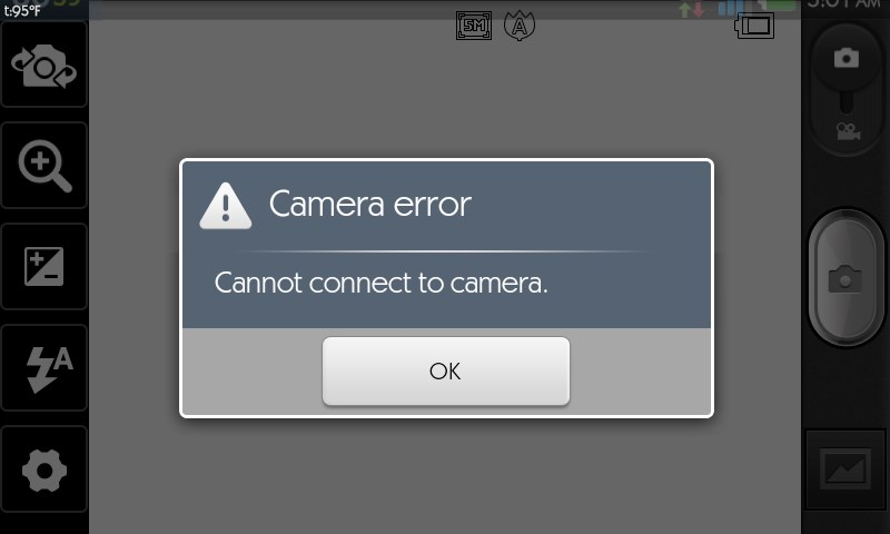 can't connect to camera android